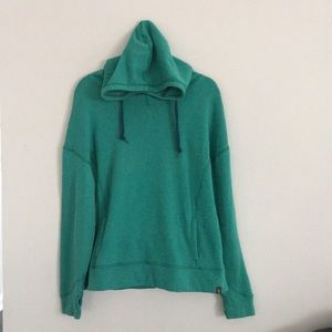 The North Face Hoodie Green front pocket Medium